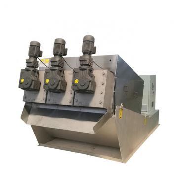 Sludge dewatering screw press machine