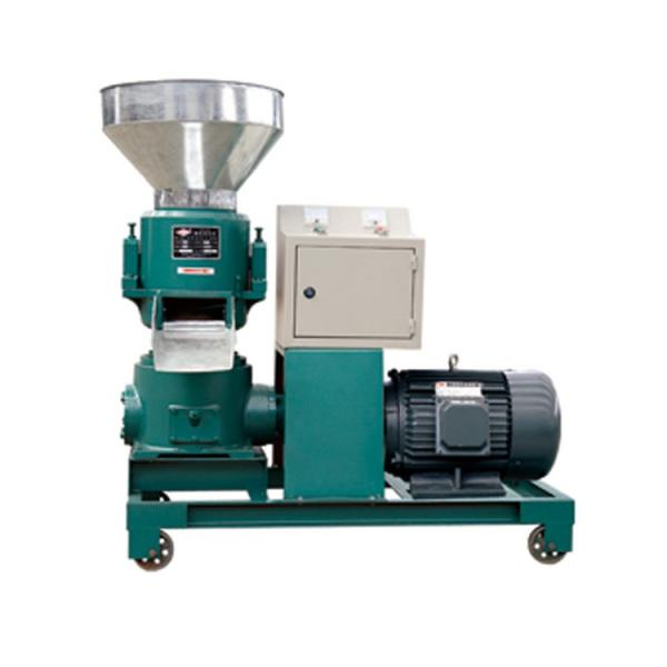 Farm use flat die shaft drive 300-500kg/h mini poultry cattle feed pellet making mill machine #3 image