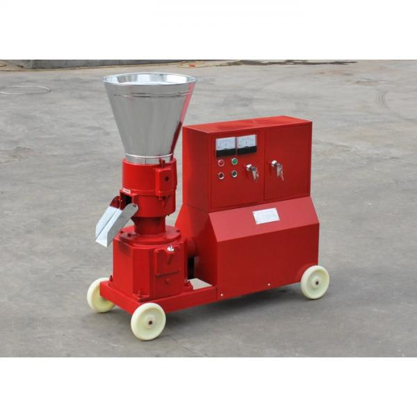 Farm use flat die shaft drive 300-500kg/h mini poultry cattle feed pellet making mill machine #2 image